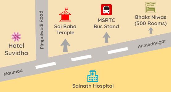 Hotel Suvidha Map